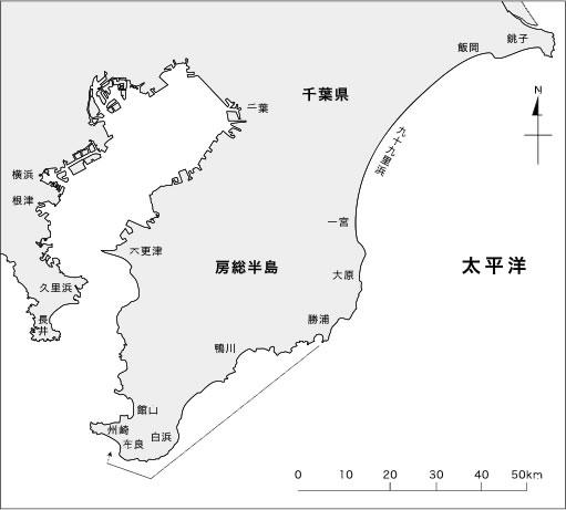 JGFAタグ&リリースプログラムで、最長再捕期間を更新したヒラスズキ JG-47389の移動経路(2008.4.21-2015.4.28 / 2,563日)